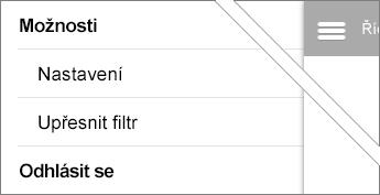 Upřesnění možností filtru