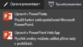 Úpravy v PowerPointu Online