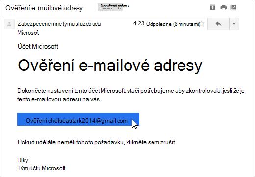Ověření e-mailové adresy