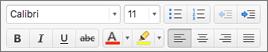 Tlačítka formátování v Outlooku pro Mac