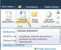Odeslání dokumentů do odkládací knihovny