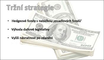 Průhledný obrázek na pozadí snímku v PowerPointu