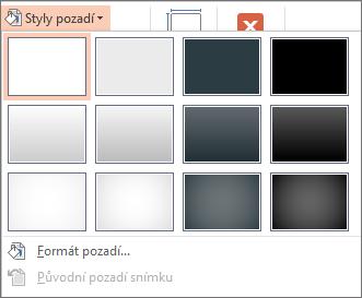 Styly pozadí aplikace PowerPoint