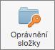 Outlook 2016 pro Mac tlačítko oprávnění složky