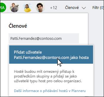 Snímek obrazovky: zobrazující výzva s dotazem, jestli chcete přidat uživatele typu Host.