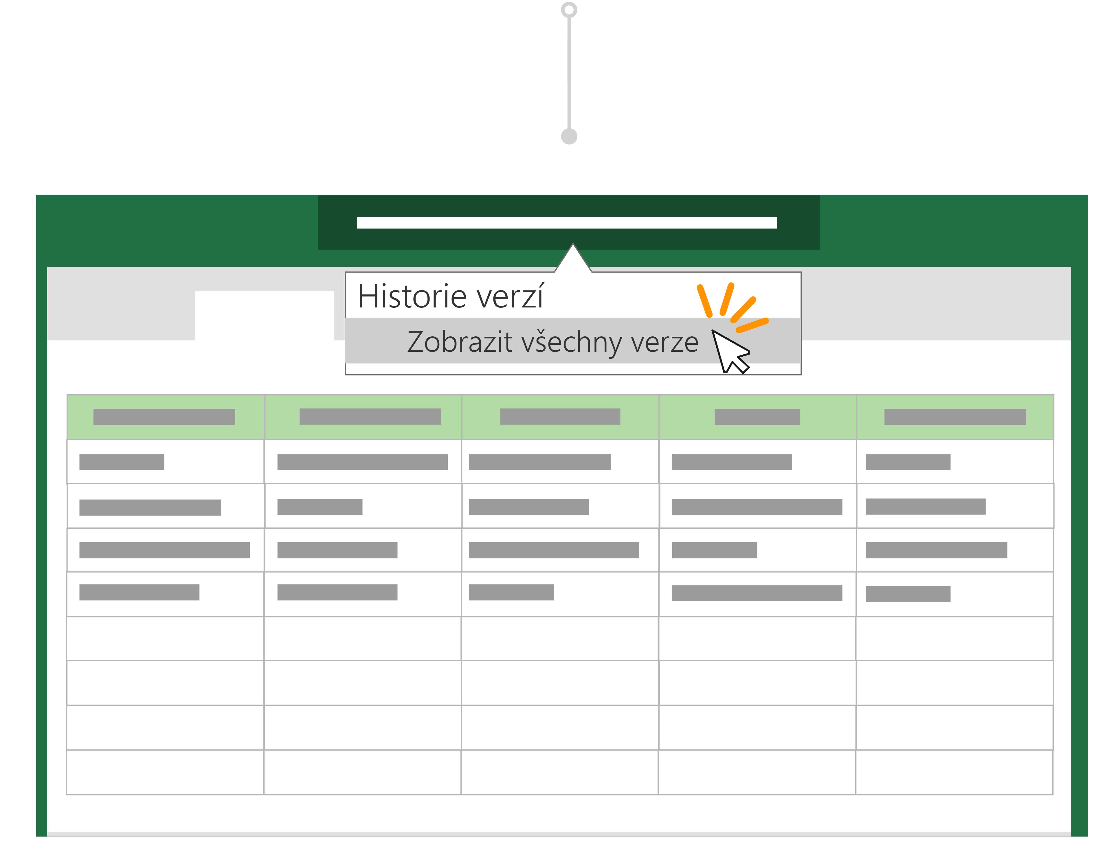 Použití historie verzí se vrátíte na předchozí verzi souboru.