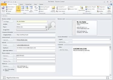 Tlačítko E-mail s možnostmi