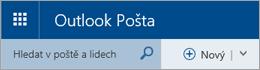 Řádek nabídek Outlook Pošty