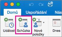 Tlačítko schůzky Mac 2016