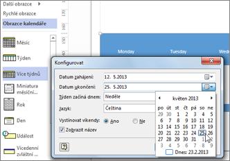 Vytvoření kalendáře ve Visiu