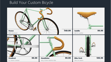 Koncepční obrázek šablony 3D katalogu