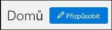 Snímek obrazovky s tlačítkem Upravit na domovské stránce zabezpečení a dodržování předpisů zarovnat na střed