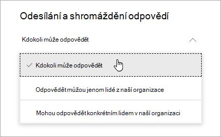Možnosti sdílení v Microsoft Forms