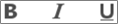 Ikony tučného písma, podtrženého písma a kurzívy