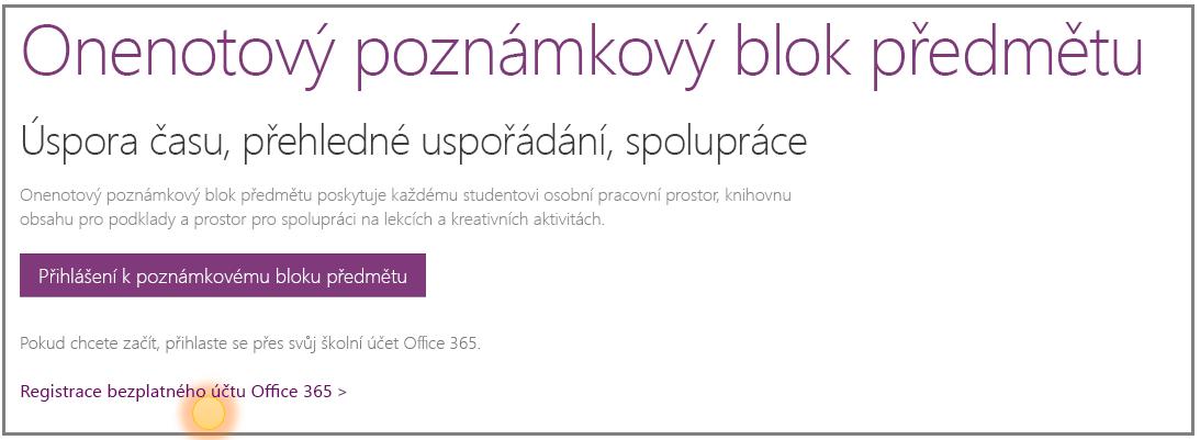 Snímek obrazovky s návodem na získání bezplatného účtu Office 365