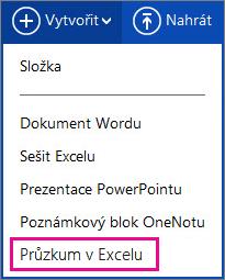 Vytvoření průzkumu v Excelu
