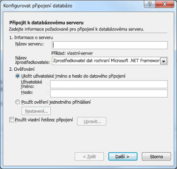 Configure Database Connection dialog box