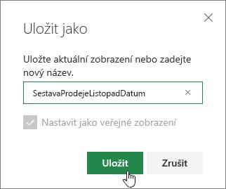 SharePoint Online zobrazení uložit jako