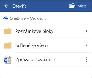 Otevření dokumentu