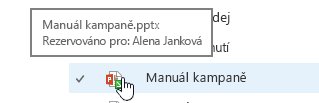 Automaticky otevírané okno při najetí myší na ikonu dokumentu