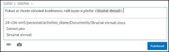 Adresa URL dokumentu naformátovaná tak, aby zobrazovala text
