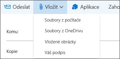 Outlook na webu: přidání Podpisu e-mailu