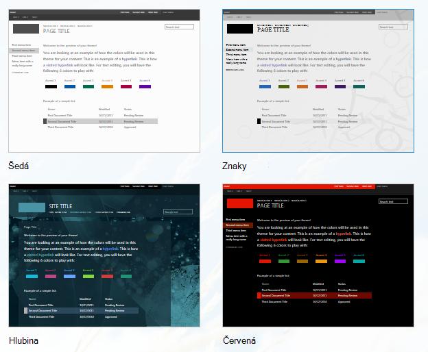 Změna vzhledu webu