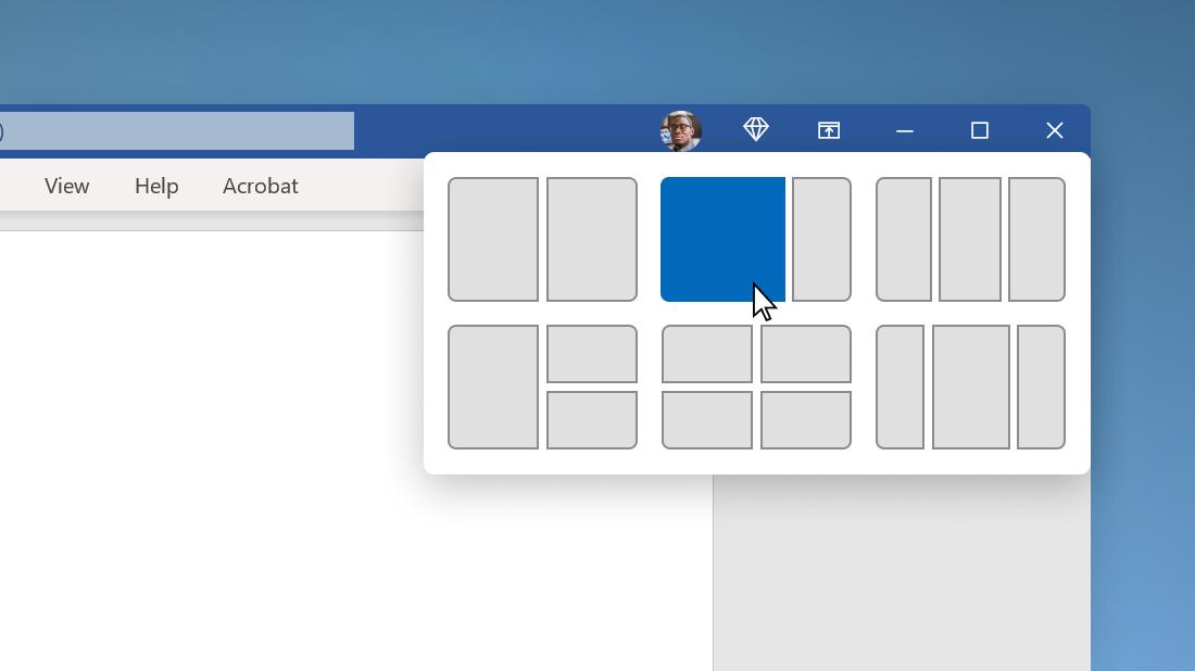 Přichycení rozložení ve Windows 11