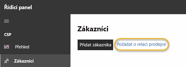 Žádost o reseller relace