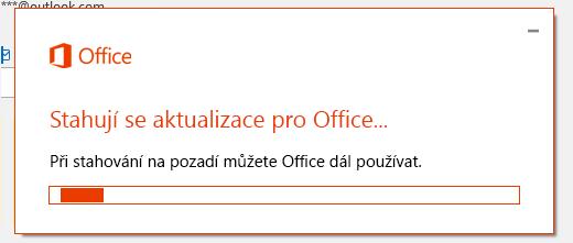 Dialogové okno aktualizace Office – stažení