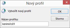 Nastavení nového profilu aplikace Outlook Pošta pro Terezu Horáčkovou