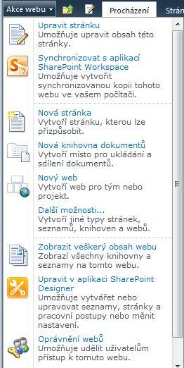 Odkaz Oprávnění webů