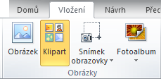 Přidání klipartu v aplikacích Office 2010 a Office 2007