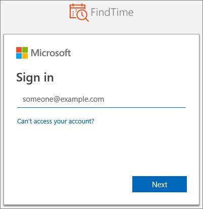 Přihlašovací údaje Microsoft