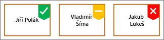 Označení obrazce s zelené zaškrtnutí Odznáček žlutém znaku a červený znak X
