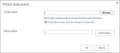 Odeslání pomocí Průzkumníka Windows