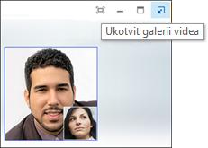 Snímek obrazovky s tlačítkem Ukotvit galerii videa