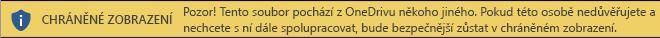 Chráněné zobrazení dokumentů otevřených z úložiště OneDrive někoho jiného