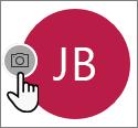 Výběr ikony kamery a přidání fotky