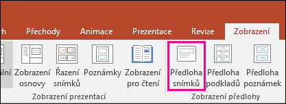shows the slide master button on the ribbon in PowerPoint