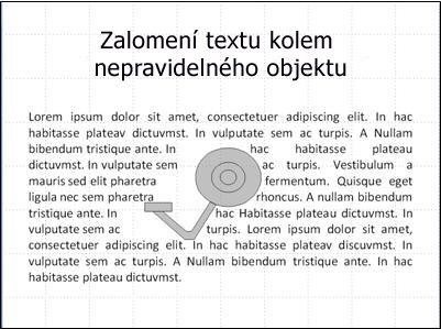 Snímek s obrázkem po posunutí překrývajícího textu
