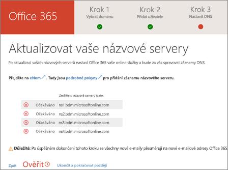 Změna názvových serverů