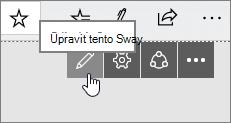 Tlačítko Upravit tento Sway
