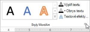 Výběr ikonu pro otevření dialogového okna Styly objektů WordArt