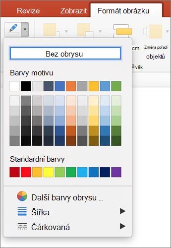 Klikněte na ikonu obrys obrázku