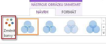 Možnost Změnit barvy ve skupině Styly obrázků SmartArt