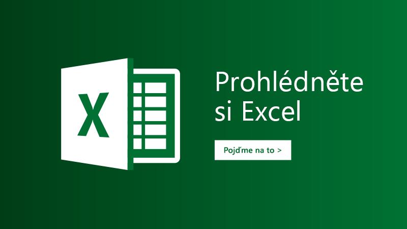 Šablona Vydejte se na prohlídku pro Excel