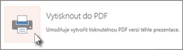 Tisk snímků jako PDF
