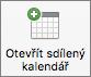 Tlačítko Nový kalendář vOutlooku 2016 pro Mac