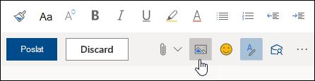 Snímek obrazovky s tlačítkem Vložit obrázky